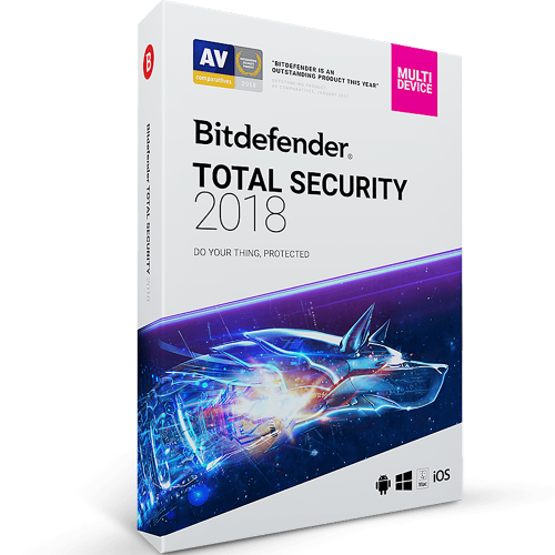 Bitdefender Total Security 2018 - 1-Year / 10-Device - BlueJadeServices - Blue Jade Services