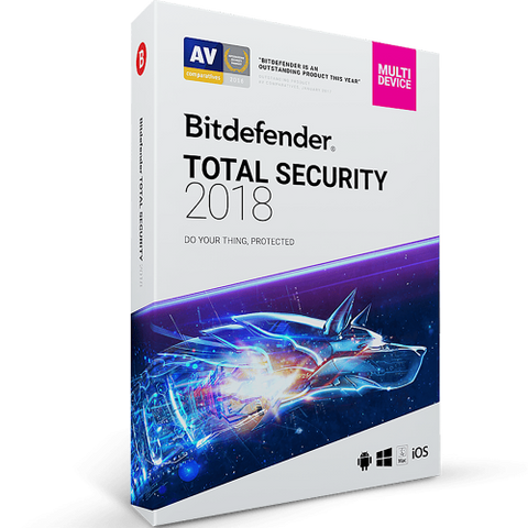 Bitdefender Total Security 2019 - 1-Year / 5-Device -  ( Email Delivery ) - Blue Jade Services
