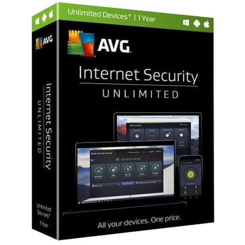 AVG Internet Security 2019 - 1-Year / Unlimited Devices - Global -  ( Email Delivery ) - Blue Jade Services