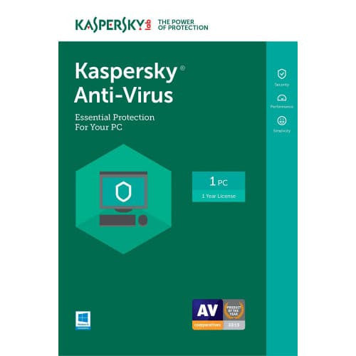 Kaspersky Anti-Virus 2017 - 1-Year / 3-PC - North America - BlueJadeServices