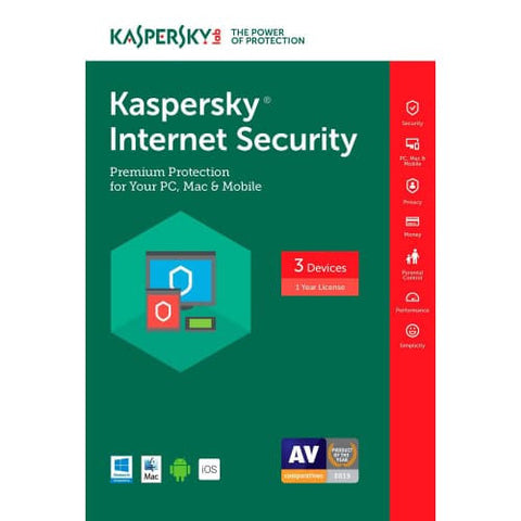 Kaspersky Internet Security 2019 - 1-Year / 3-Device - North America -  ( Email Delivery ) - Blue Jade Services