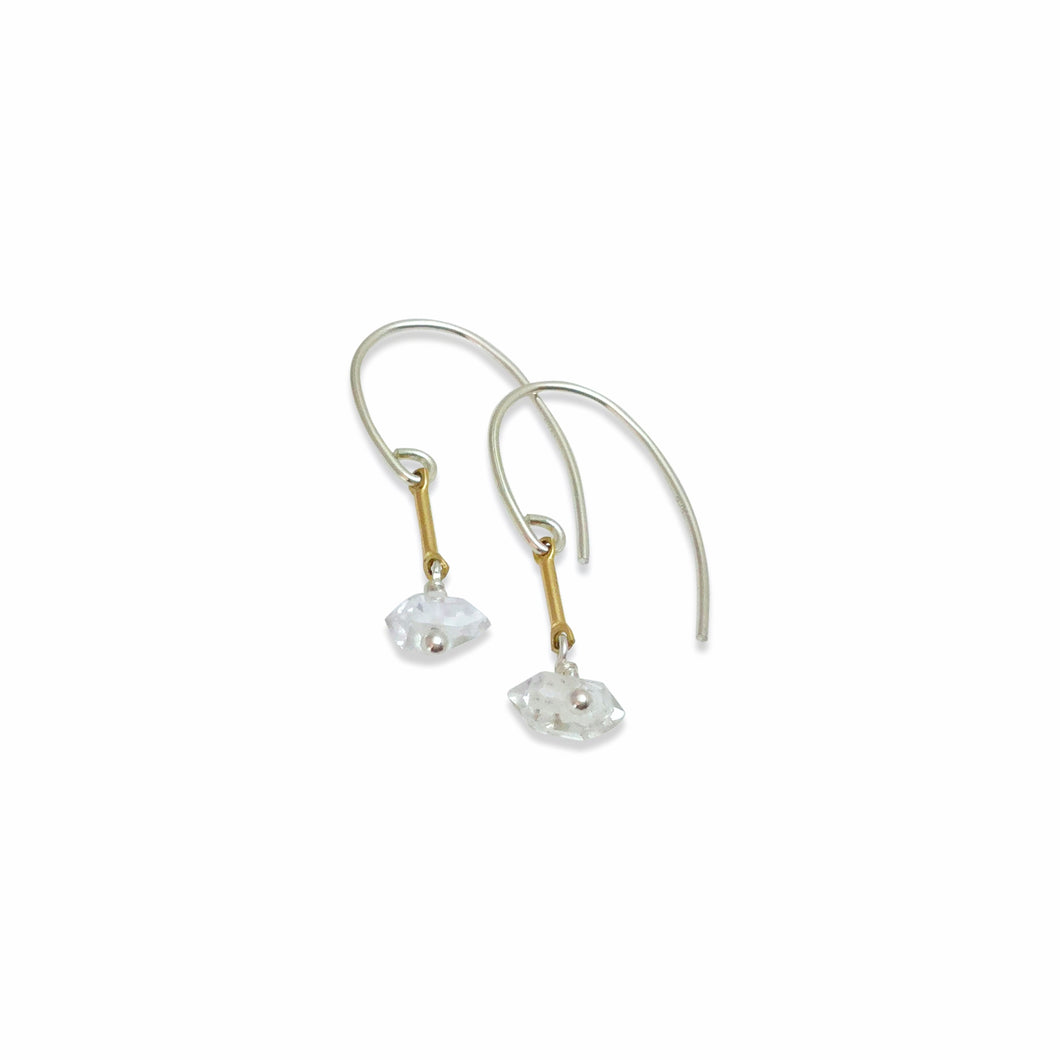 HERKIMER DIAMOND TINY EARRINGS