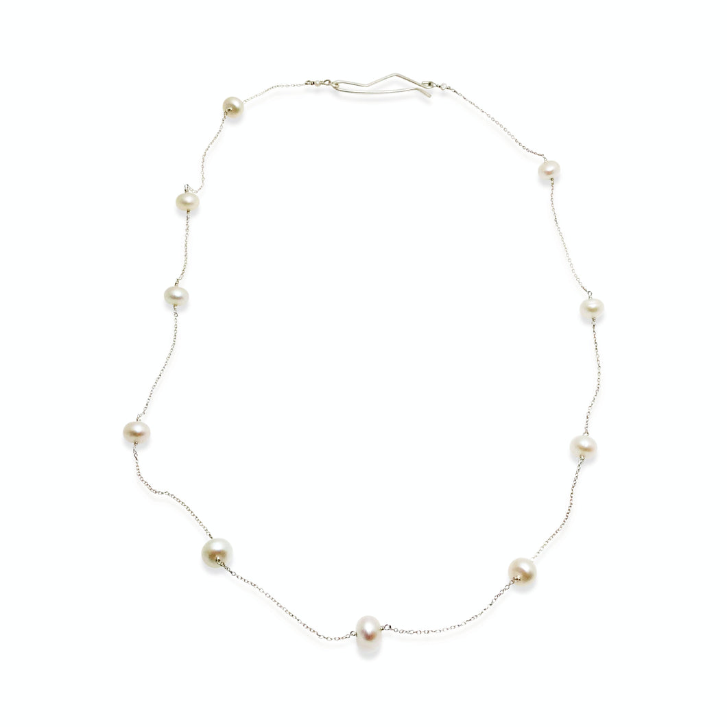 DELICATE NECKLACE - IVORY PEARL