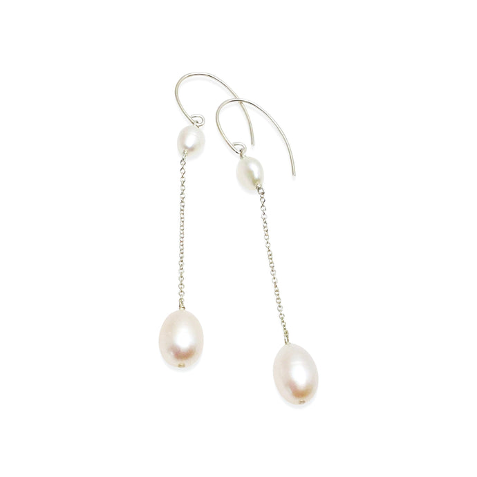 IVORY PEARL LONG DROP EARRINGS