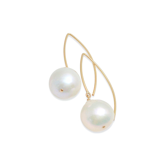 EXTRA LARGE IVORY BAROQUE PEARL EARRINGS