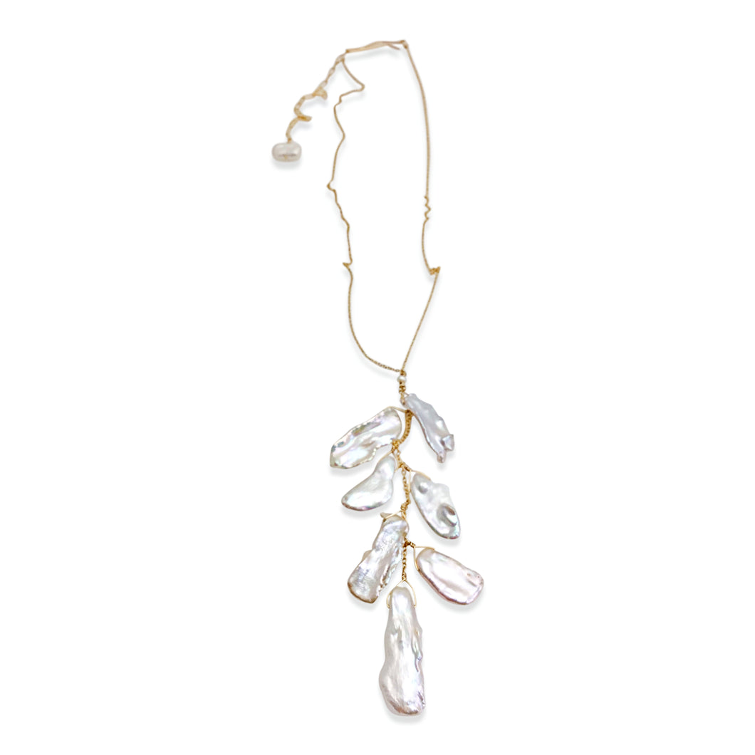 IVORY CASCADE PEARL NECKLACE