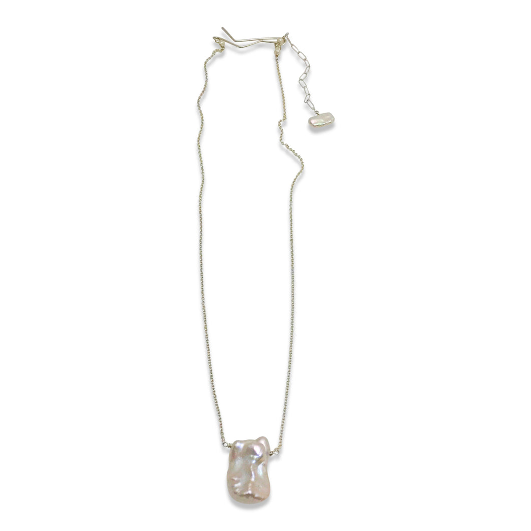 IVORY PEARL SIMPLE DROP NECKLACE
