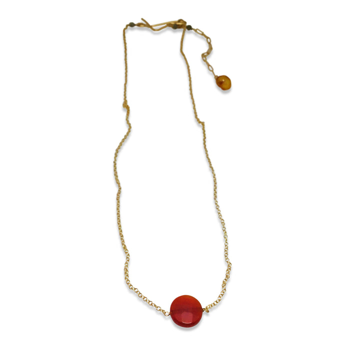 BRIGHT FALL SIMPLE DROP NECKLACE