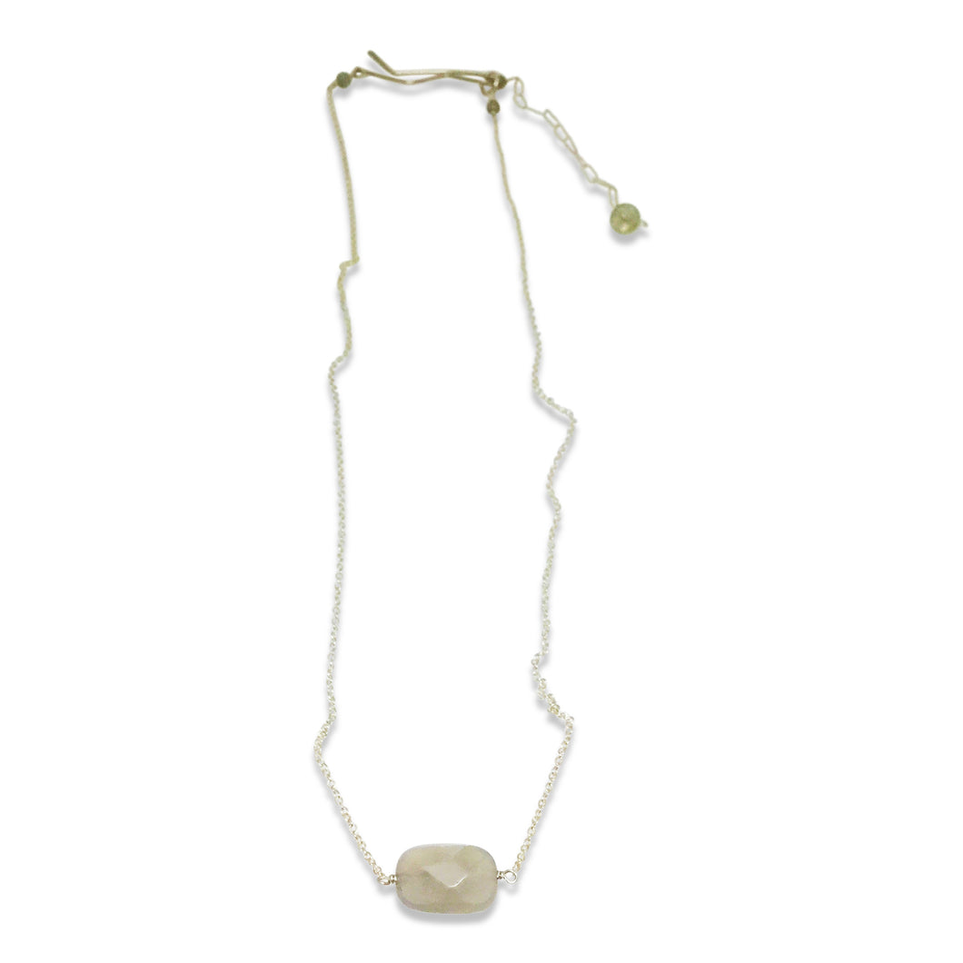 IRIDESCENT SIMPLE DROP NECKLACE