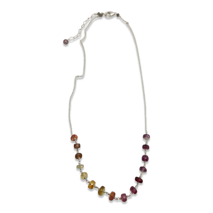 MULTI COLORED SAPPHIRE OMBRE NECKLACE