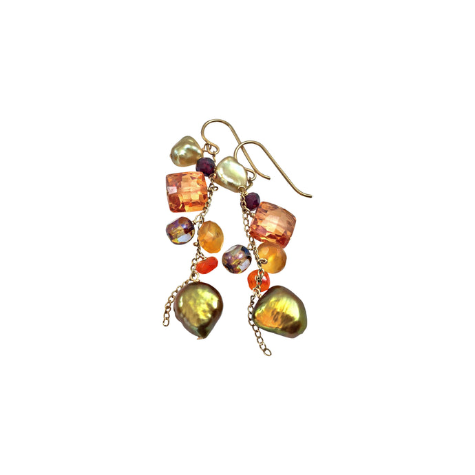 BRIGHT FALL CASCADE EARRINGS