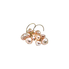 BLUSH PINK PEARL CLUSTER EARRINGS