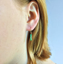 PRECIOUS STACK EARRINGS - EMERALD