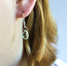 PRASIOLITE TEARDROP EARRINGS