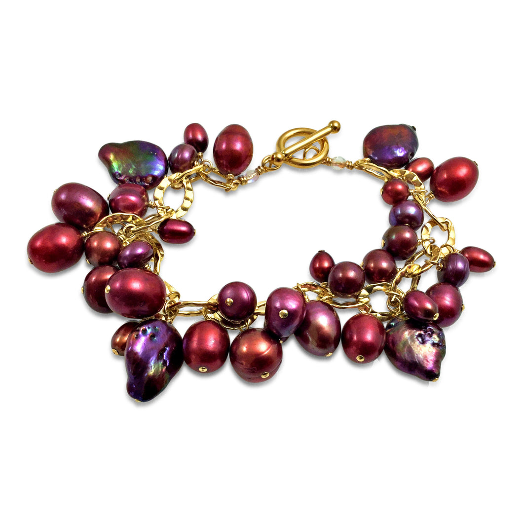 BERRY RED PEARL BRACELET