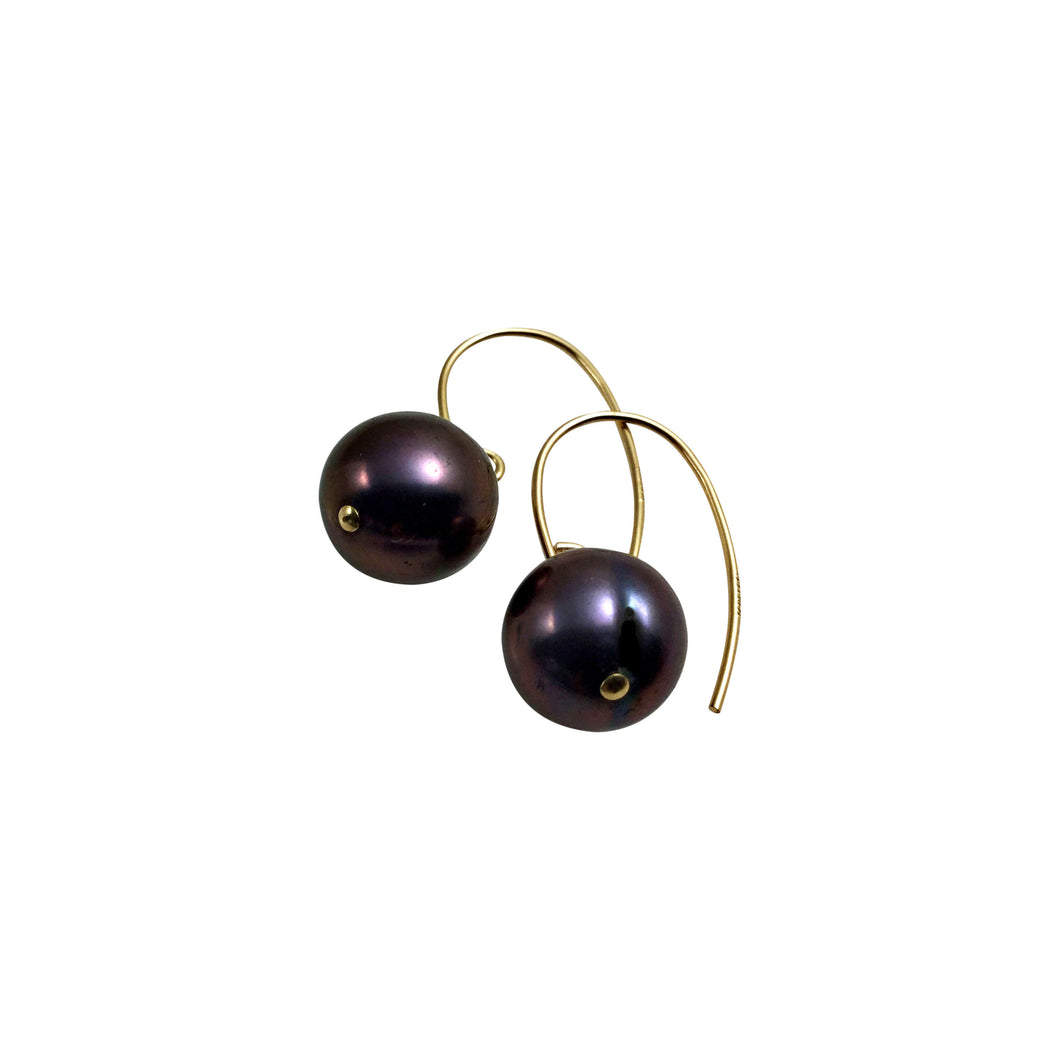 PEACOCK PEARL SIMPLE EARRINGS