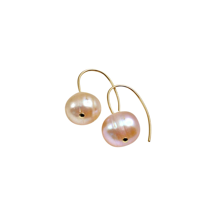 BLUSH PINK PEARL SIMPLE EARRINGS