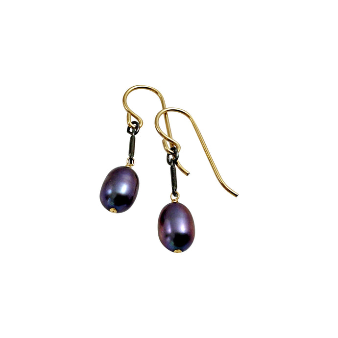 PEACOCK PEARL TINY EARRINGS