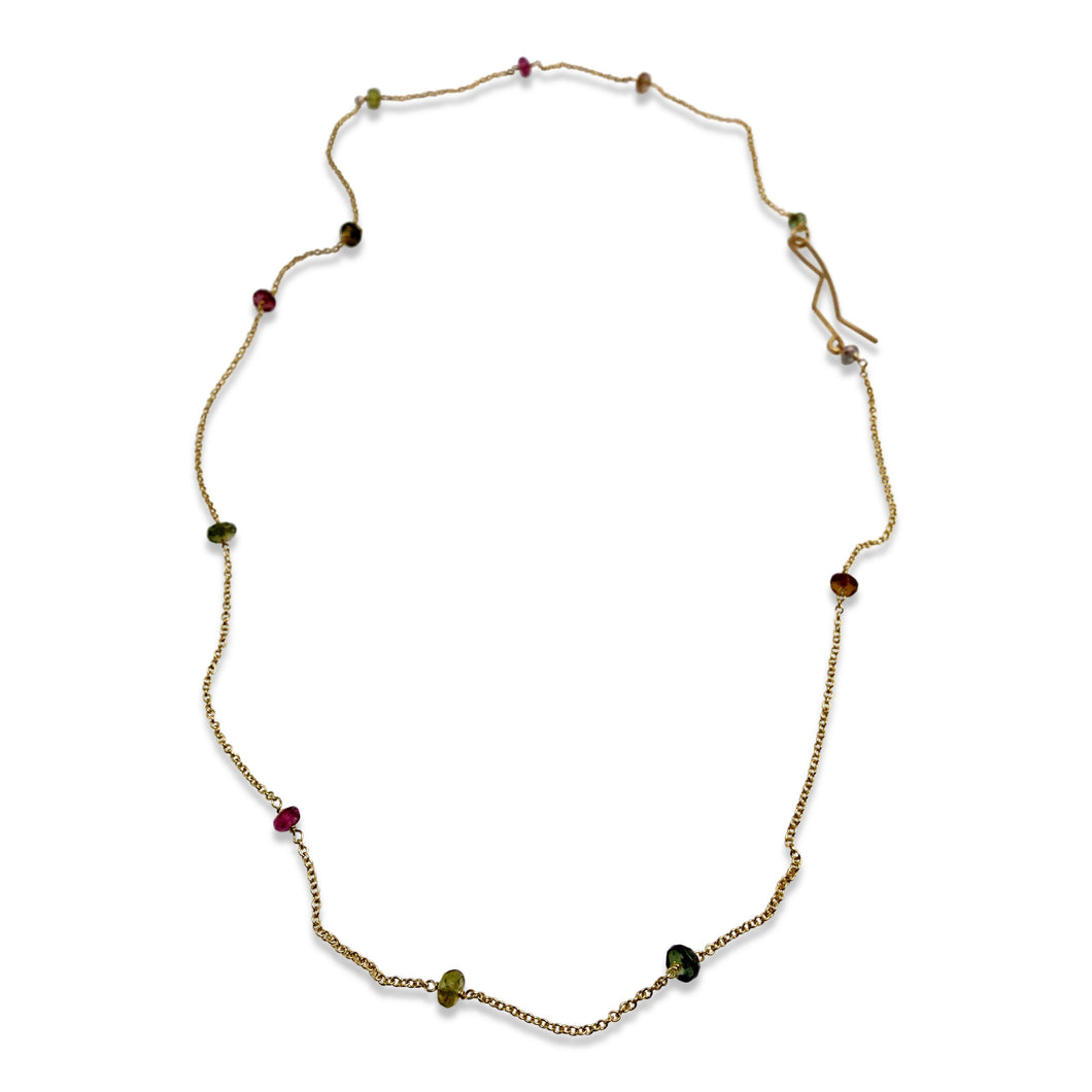 DELICATE NECKLACE - WATERMELON TOURMALINE