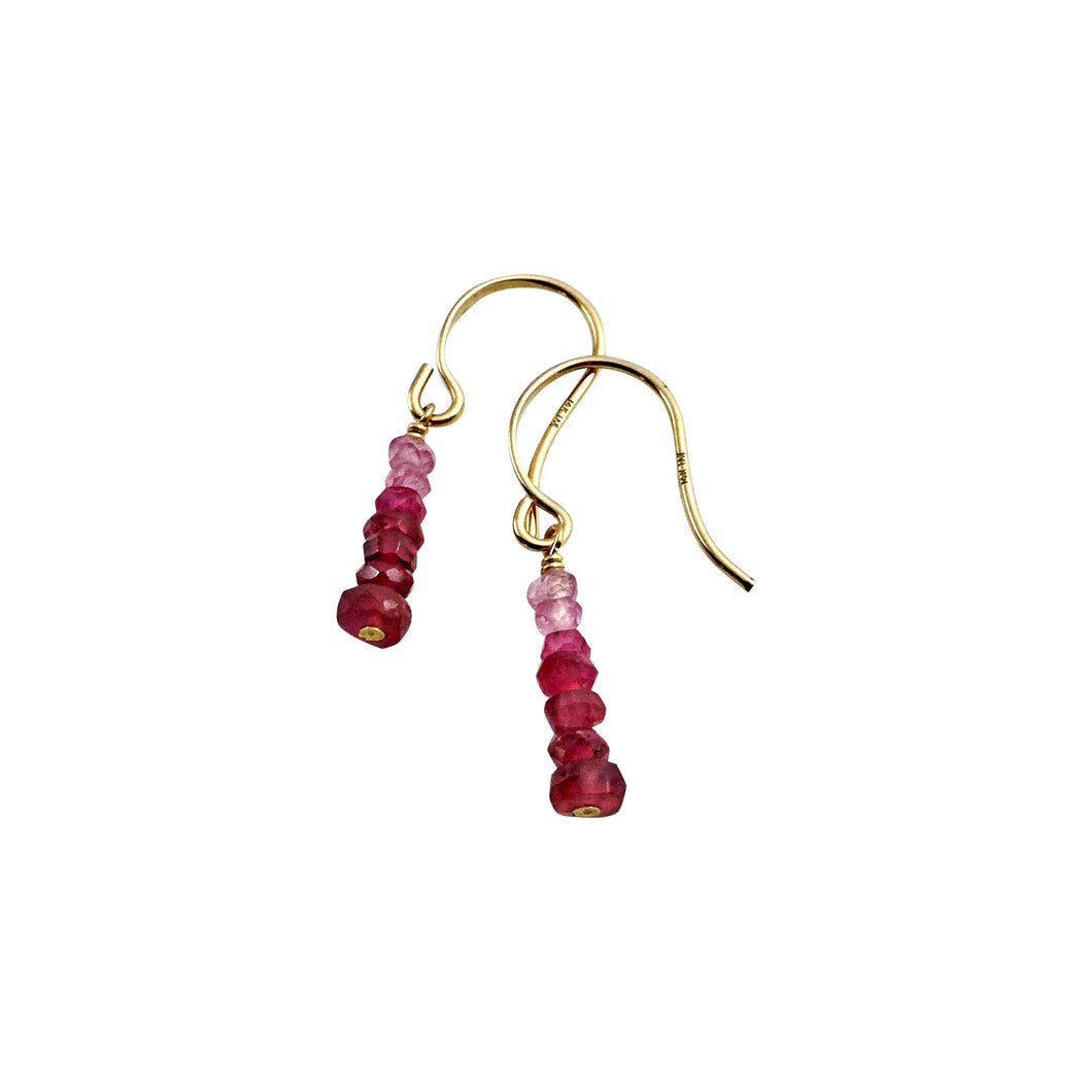 PRECIOUS STACK EARRINGS - RUBY