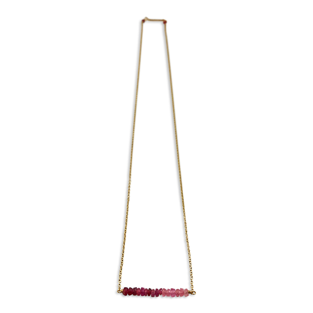 PRECIOUS BAR NECKLACE - RUBY