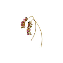 DELICATE COCOON EARRINGS - WATERMELON TOURMALINE