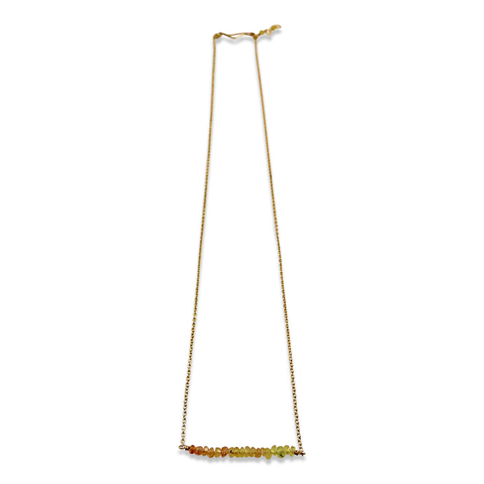 PRECIOUS BAR NECKLACE - YELLOW SAPPHIRE