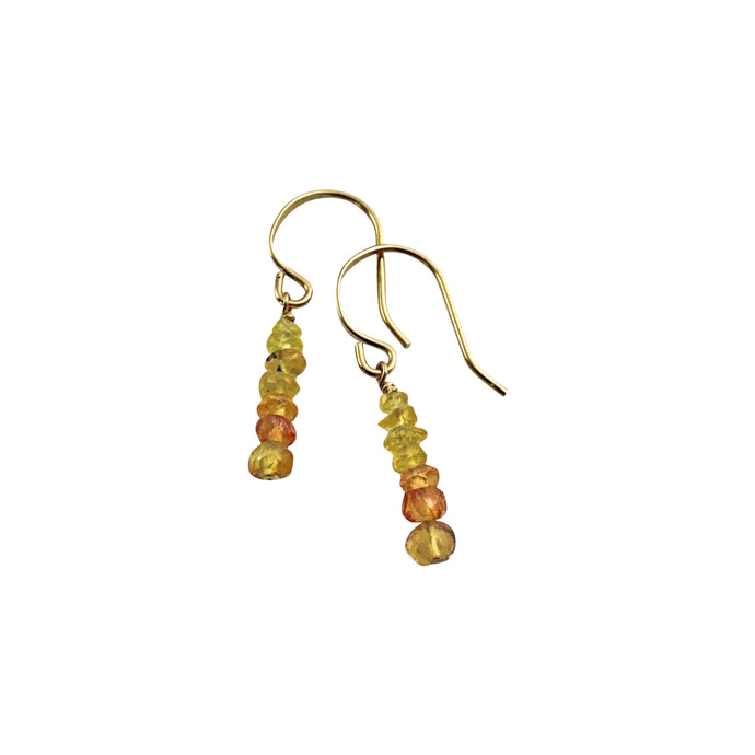 PRECIOUS STACK EARRINGS - YELLOW SAPPHIRE