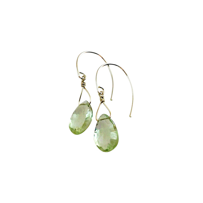 GREEN QUARTZ TEARDROP EARRINGS