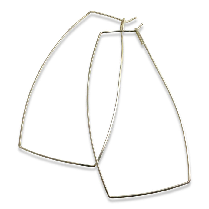 SQUARE HOOP EARRINGS - LARGE