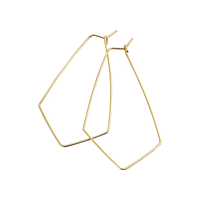 CHEVRON HOOP EARRINGS - MEDIUM