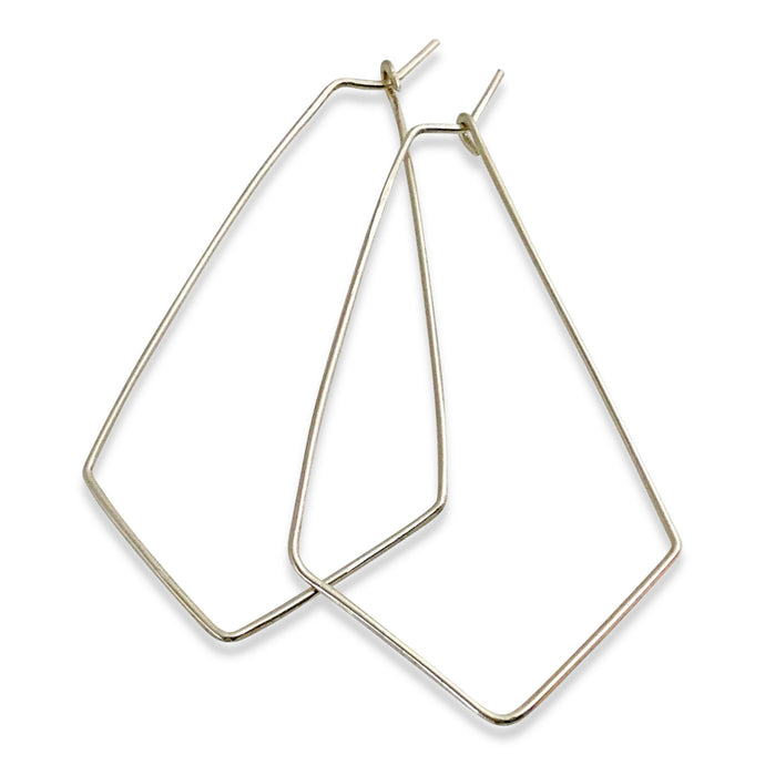 CHEVRON HOOP EARRINGS - LARGE