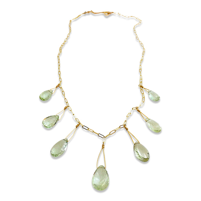 GREEN QUARTZ SEVEN NECKLACE