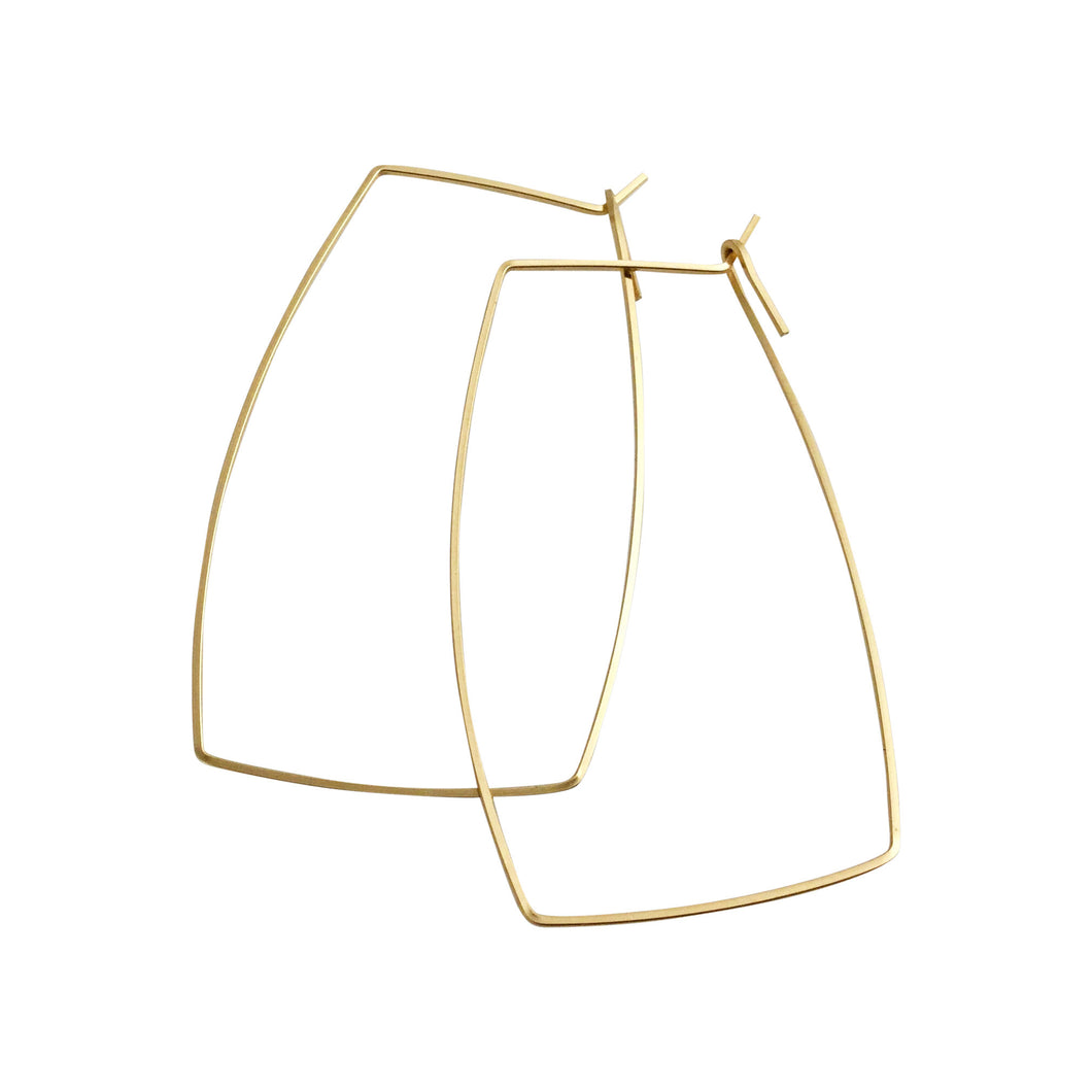 SQUARE HOOP EARRINGS - MEDIUM