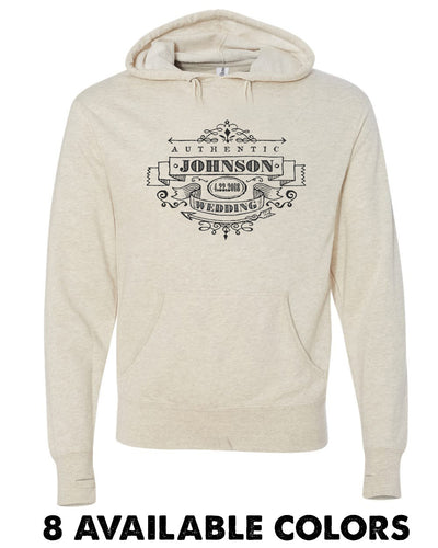 Super Light Vintage Authentic Custom Name Pullover Hoodie - 3719