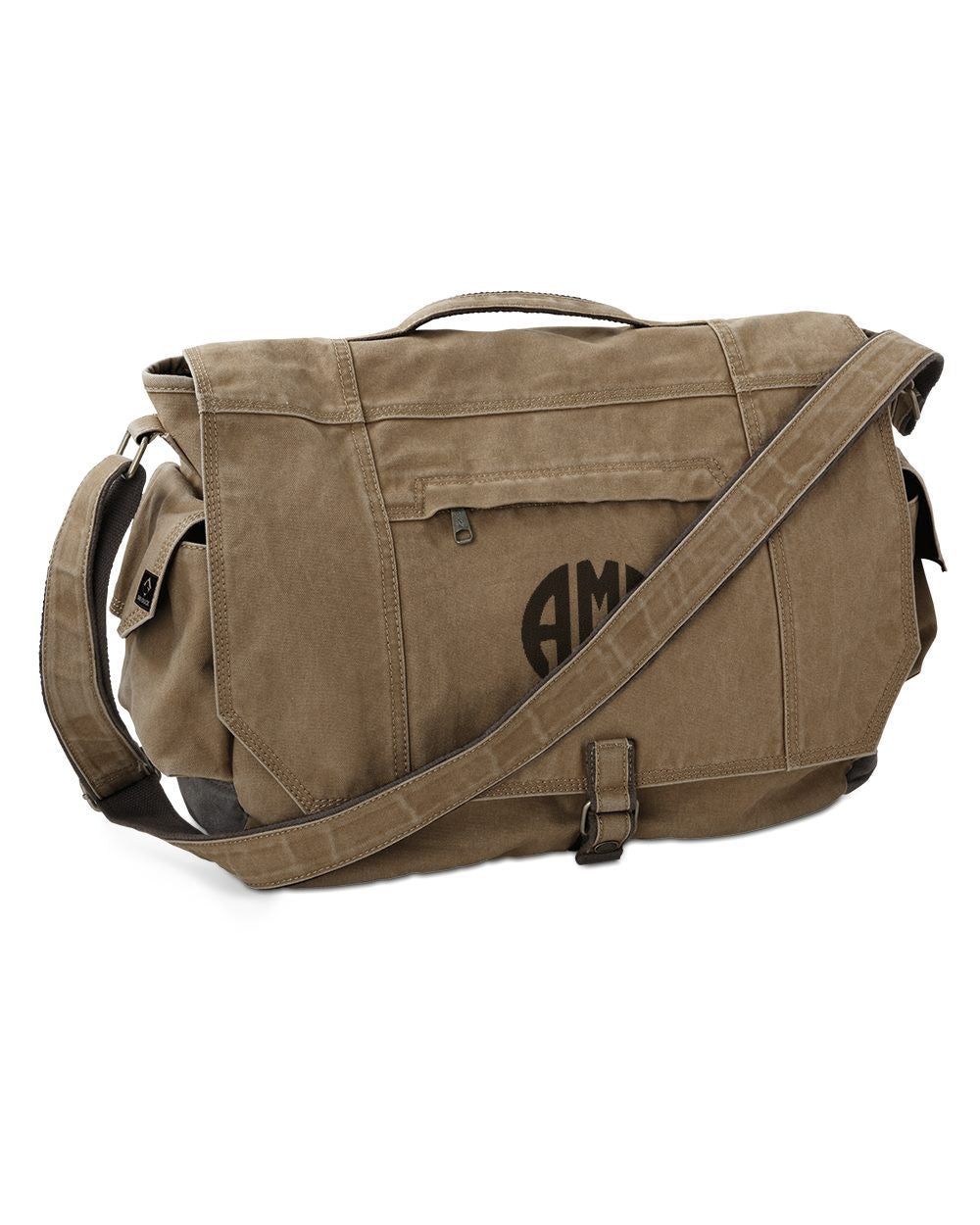 Cotton/Poly Monogrammed - 16 Inch Messenger Carry Bag - 1036