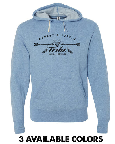 Super Light Diamond Tribe French Terry Custom Name Pullover Hoodie - PRM90HT