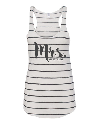 Mrs. Striped Eco Racer Tank - 1927ea