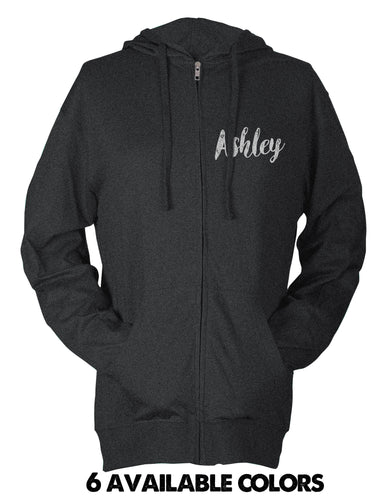 Bridesmaid/Maid of Honor - Super Light Full Zip Beach Hoodie With Custom Name