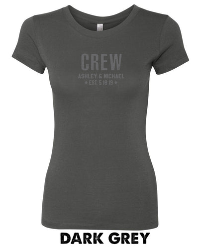 CREW With Custom Names -Women's Cotton Favorite T -  3300