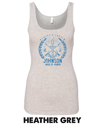 Vintage Anchor - MAID/MATRON OF HONOR - Ultra Triblend Tank - 3533