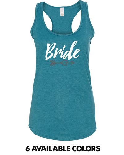 Bride with Arrow - Triblend Racerback Tank - 6751L
