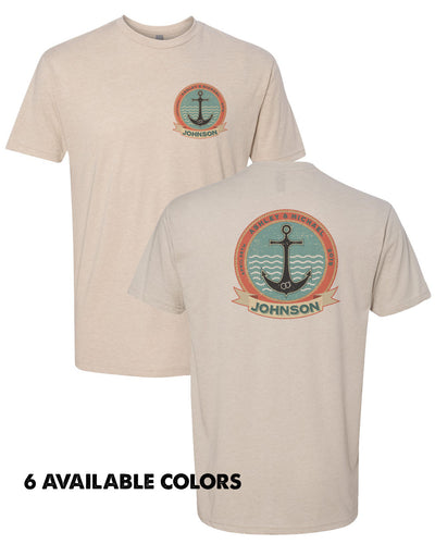 Anchor Emblem With Custom Names - Poly/Cotton Custom Name Short Sleeve T