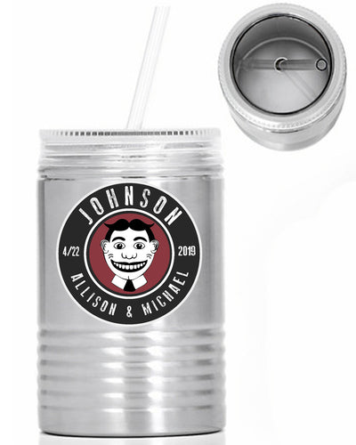 Asbury Park Tilly - Custom Name Oil Can - 24 oz. Stainless Steel Mason Jar With Lid