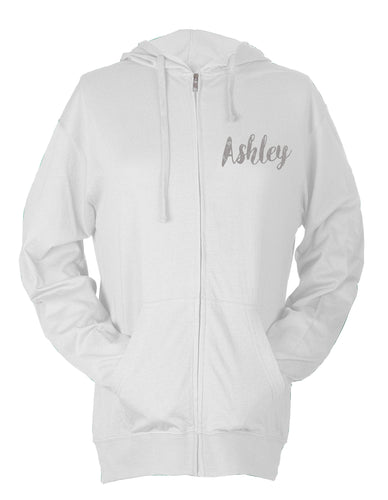 Bride - Super Light Full Zip Beach Hoodie With Custom Name