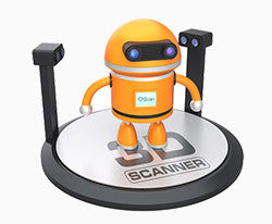 3D Scanner Cartoon Graphic