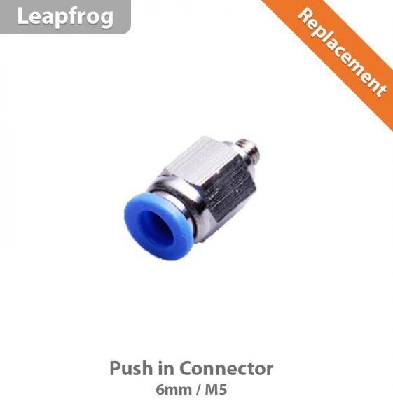 Leapfrog Push in Connector 6mm (M5)