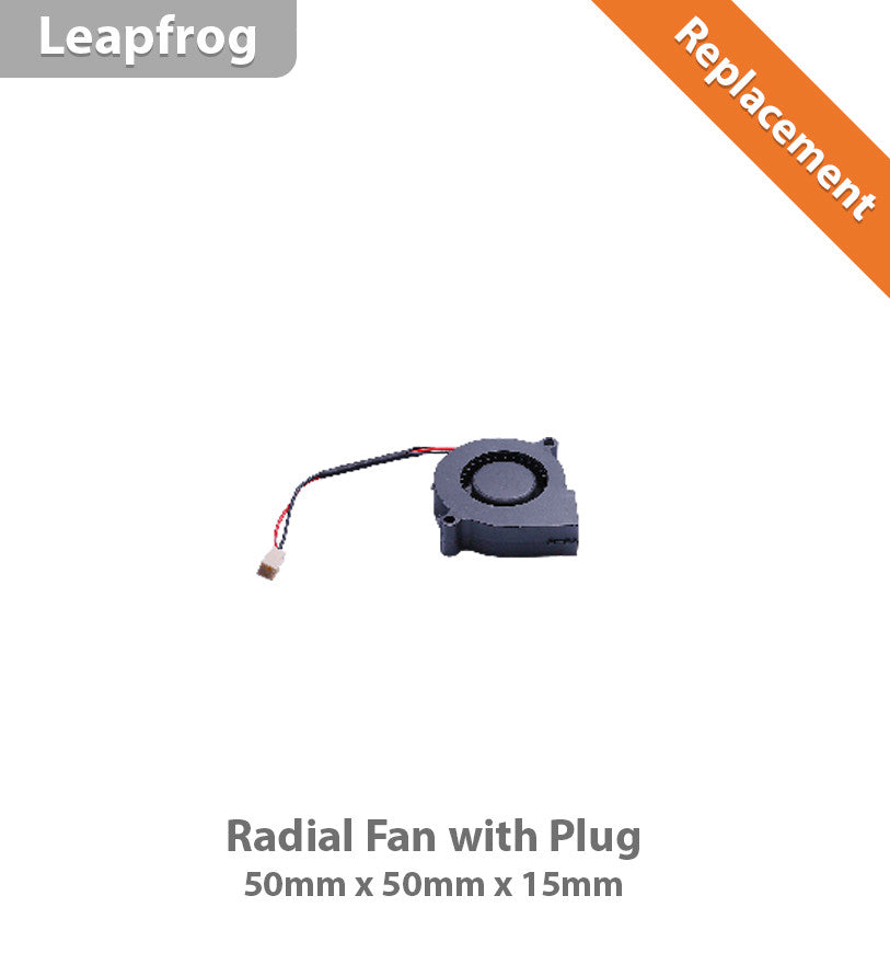 Leapfrog Radial Fan 50 x 50 x 15 With Plug