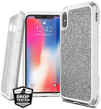 X-Doria Defense Lux Military Tested Drop Tested Aluminium Case for iPhone Xs Max (White Glitter)