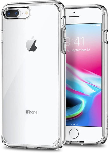Spigen Ultra Hybrid [2nd Generation] Designed for Apple iPhone 8 Plus and iPhone 7 Plus - Crystal Clear